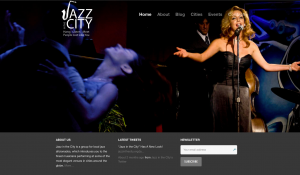 'JAZZ IN THE CITY' WEBSITE